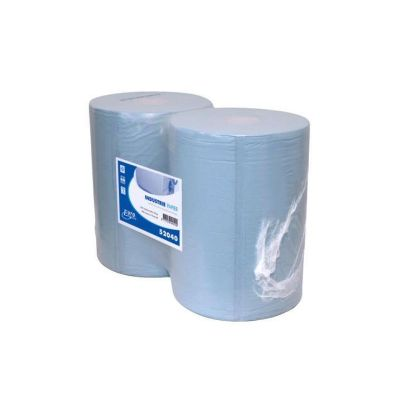 Euro Products 2-laags Industriepapier blauw recycled